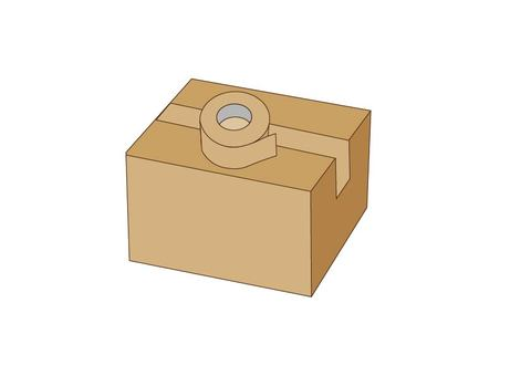 Cardboard box and packing tape