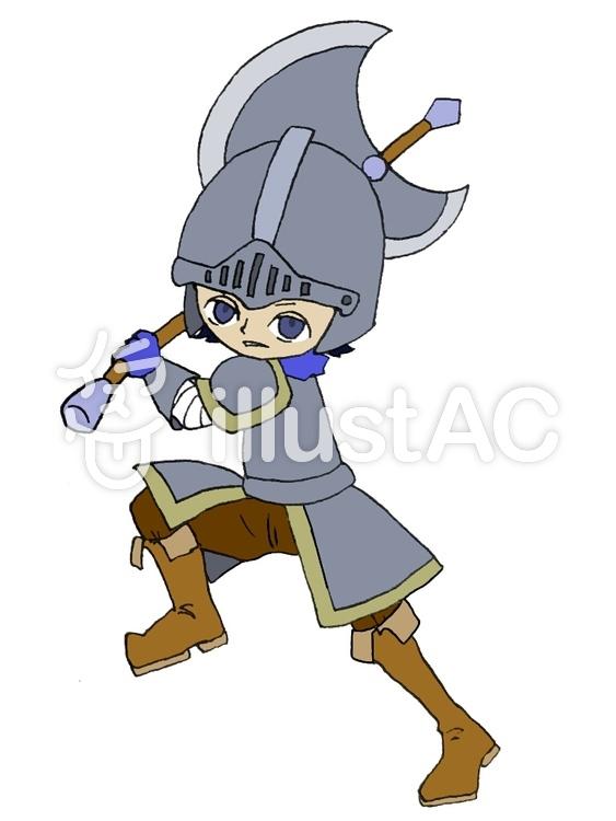 斧を構える戦士イラスト No 624656無料イラストならイラストac