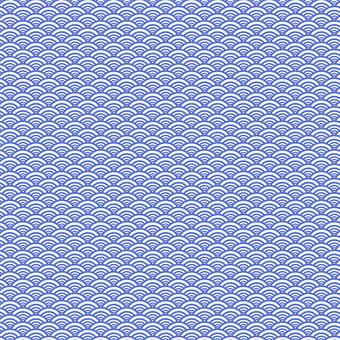 Japanese traditional pattern / Japanese pattern Qinghai wave 2