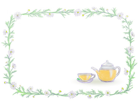 Flower decoration frame chamomile / herb tea 2