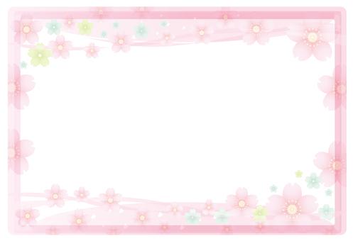 Faint pink flower frame