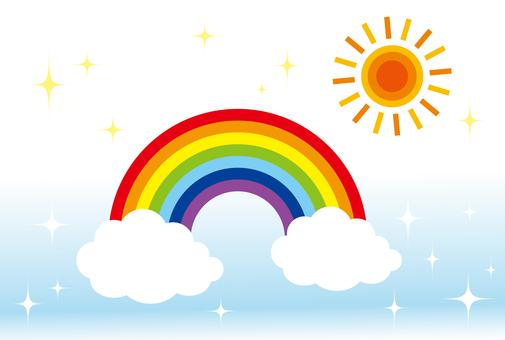 Glitter rainbow and pop sun