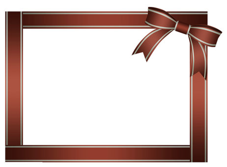Brown ribbon frame