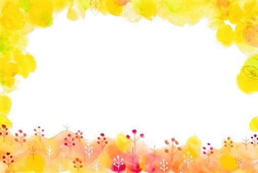 가을 장식 프레임