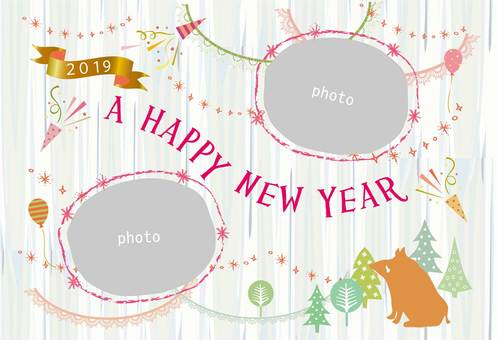 New Year card _ Frame Ya 07