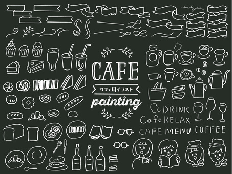 Hand drawn illustration for cafe