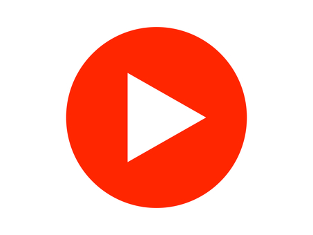 Playback Video playback button Red