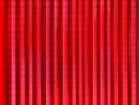Stage red curtains, wallpaper, frame