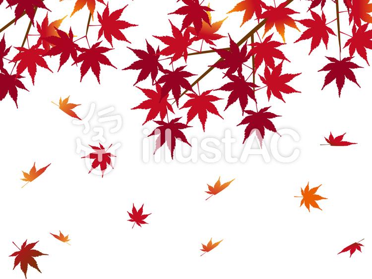 和風 紅葉の背景 秋の紅葉 もみじイラスト No 624585無料イラスト