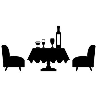Dining room set _ Silhouette material