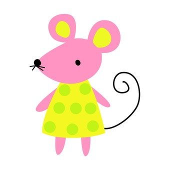 Mouse dressed in yellow clothes