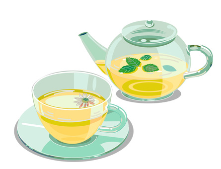 Herbal tea and pot