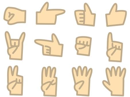 Hand icon skin color