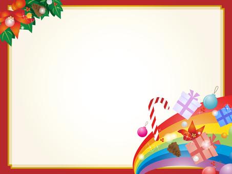 彩虹和圣诞节装饰框架