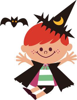 Vampire disguise illustration