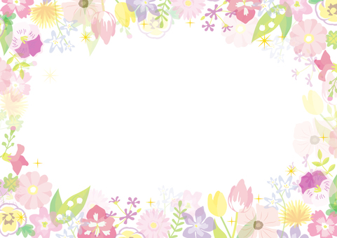 Spring Flower Frame 03