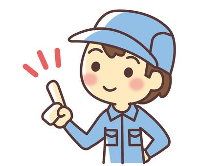 觸摸手指的工人(071)