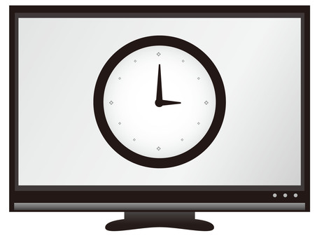 Monitor (with clock)