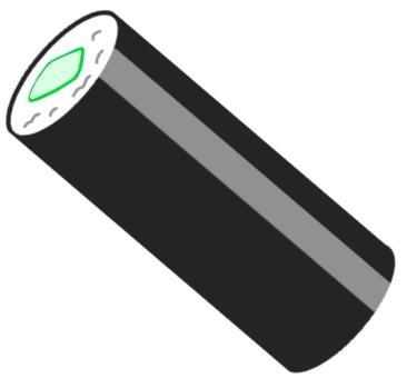Long cucumber roll
