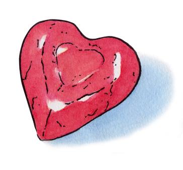 Chocolate Heart Pink