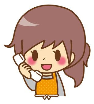 Female * Apron _ Telephone