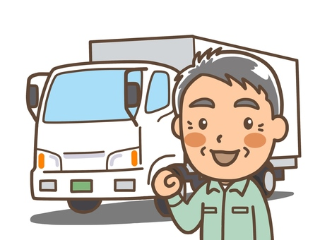 トラックドライバー中高年齢