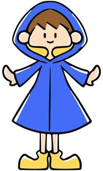A boy in a blue kappa