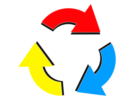 3 color recycle mark