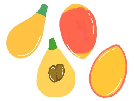 Biwa · Mango