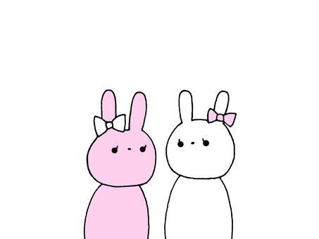 Two rabbits 1 2