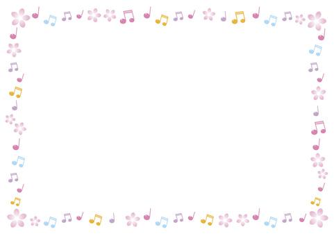 Spring note frame