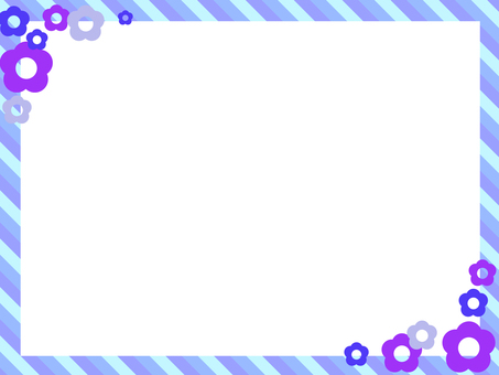 Frame Flower blue series