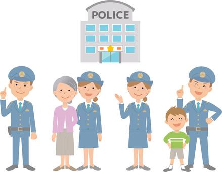 90208. Police officer, set 1
