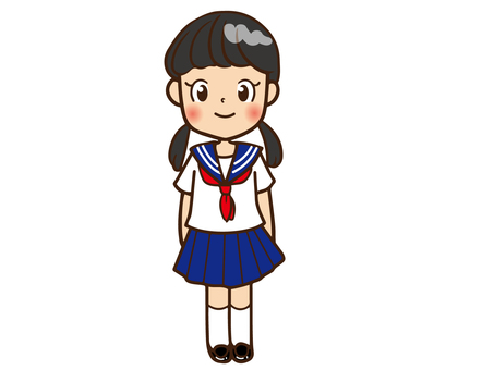 Junior high school girls (Sailor summer clothes)