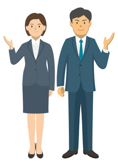 A pair of suit men and women -1-01_ whole body