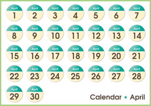 Calendar circle April