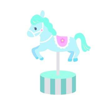 Merry-go-round horses (blue)