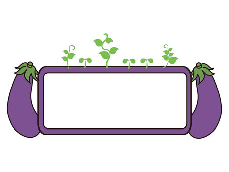 Decorative frame 1 of eggplant