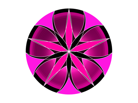 One point material (pink)
