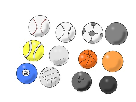 Ball game ball set