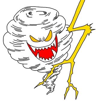 Tornado and thunder characters