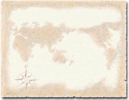 World map / orientation mark texture