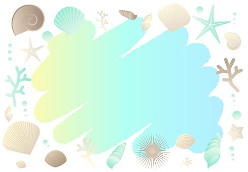 Shell sparkling frame