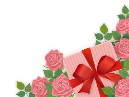 背景_バラとプレゼント