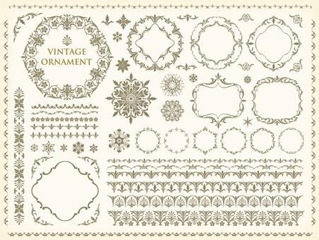 Vintage ornament set 83