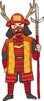 Military commander (Yukimura Sanada · cheek pad equipped)