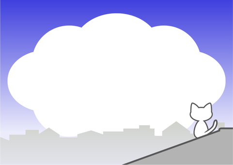 Cat and cloud