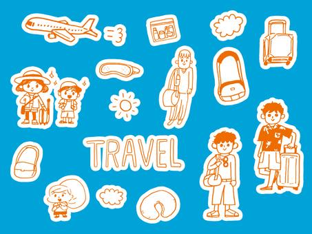 Travel set (with orange edge)