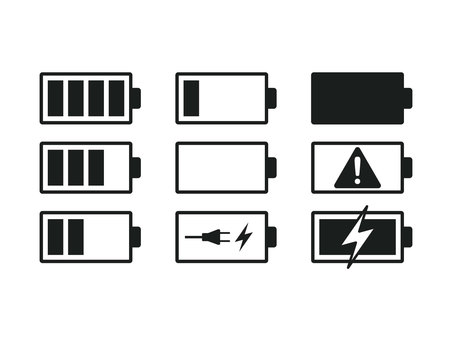 Battery icon black and white