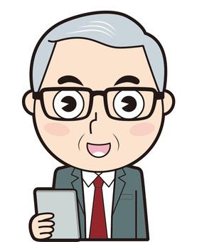 Senior male employee (tablet terminal)